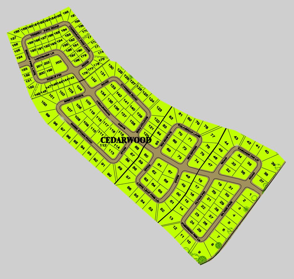 CEDARWOOD MAP - FOXWOOD