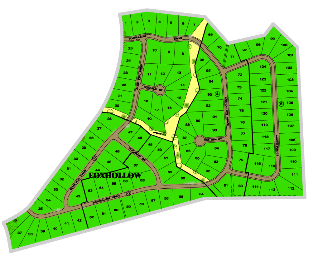 FOXHOLLOW MAP - FOXWOOD