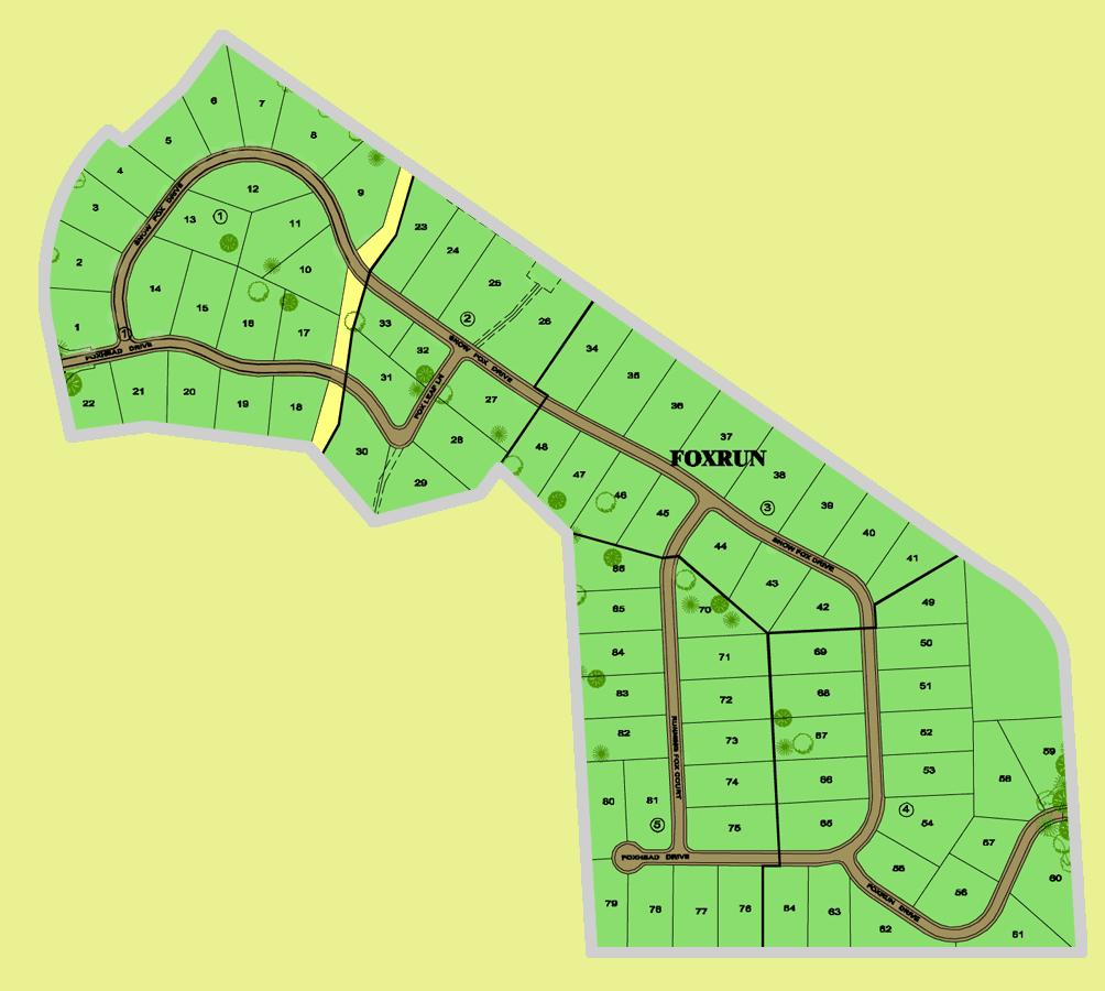 FOXRUN MAP - FOXWOOD